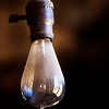 The light bulbs were old and fascinating.  This one was found in the morgue.