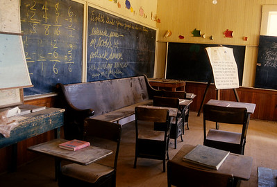 Education was very important to the families of Bodie.  The schoolhouse is large with many desks.