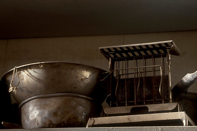 In the Boone Store, the old toaster and pots were special to the housewives who were living in Bodie.