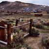 Looking at the town and Bodie Bluff, you can see the few buildings remaining as well as the Standard Stamp Mill.  The areas on the Bluff that have disturbed ground are where the mining activity took place..