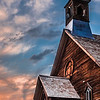 Sunset at the Methodist Church