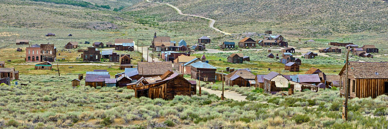 """Bodie Panorama Looking West - Late Afternoon"""
