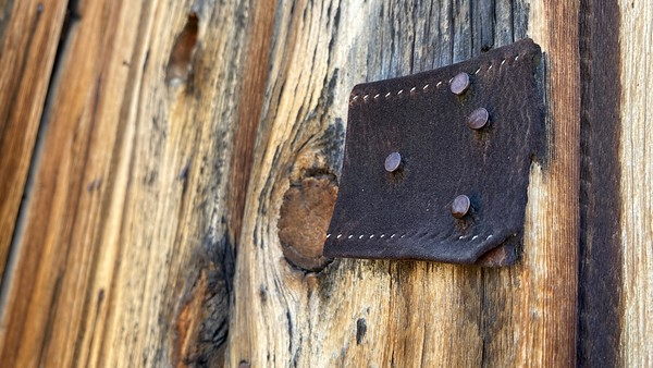 Leather and wood