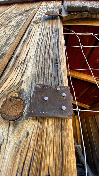 Leather window hinges