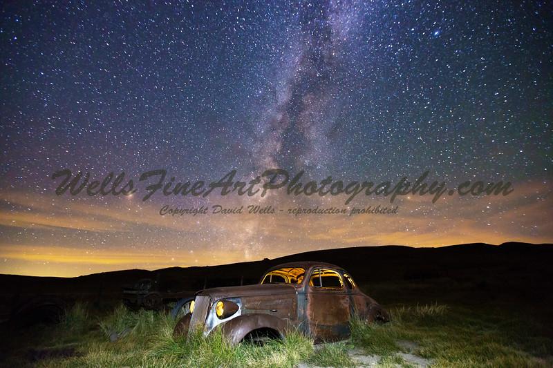 IMG_4837 Sunken sedan & Milky Way