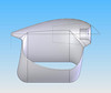 """Improved Ralt airbox.<br /> <br /> """"It blocks some airflow [to the rear wing], but making the cross-section rather large and cambered cut down on the turbulence factor significantly. This is a cutaway CAD rendering of the airbox. The trapezoid outline in the middle is where we mounted the K&N filter to the inlet neck"""""""