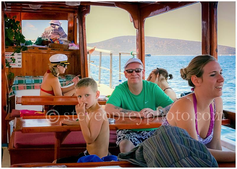 Boat trip on Aegean Sea. 25th Aug 2010