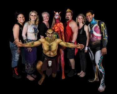 Body Painting Mythical Creatures - May 2016