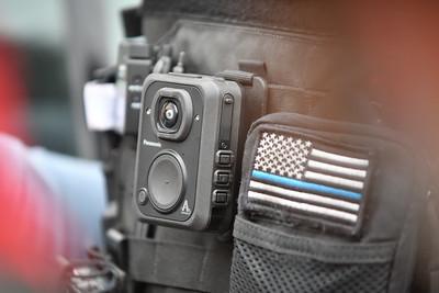 Bodycam on Oasha White's vest. Jan. 13 2021.
