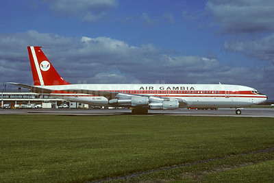 Air Gambia Boeing 707-323B EL-AKC (msn 20177) LGW (Christian Volpati Collection). Image: 932532.