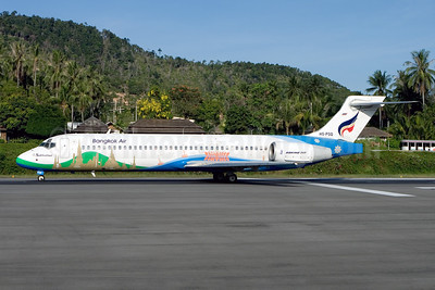 Bangkok Air (Bangkok Airways) Boeing 717-231 HS-PGQ (msn 55081) (Sukhothai) USM (Gunter Mayer). Image: 910850.