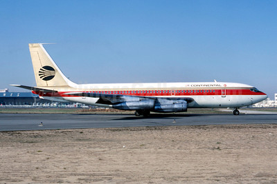 Continental Airlines Boeing 720-024B N57202 (msn 18417) LAX (Ted J. Gibson - Bruce Drum Collection). Image: 101466.