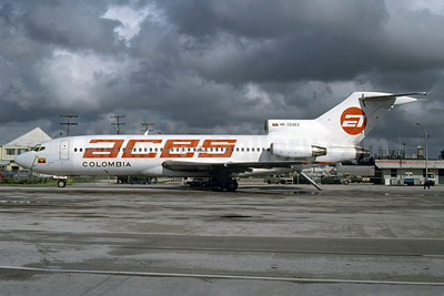 ACES Colombia Boeing 727-46 HK-3246X (msn 19280) MIA (Bruce Drum). Image: 102920.