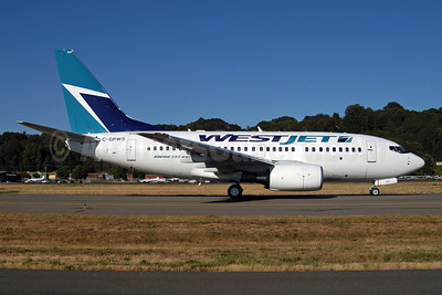 WestJet Airlines Boeing 737-6CT C-GPWS (msn 34284) BFI (Royal S. King). Image: 903238.