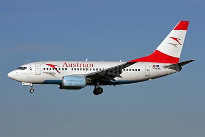 Austrian Airlines Boeing 737-6Z9 OE-LNL (msn 30137) LHR (Antony J. Best). Image: 904526.