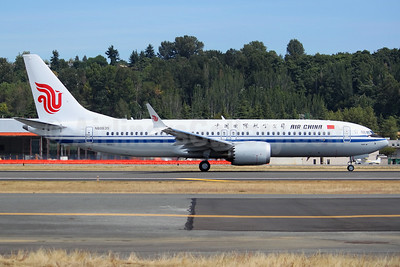 The first Boeing 737-8 MAX 8 for Air China