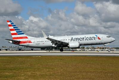 American Airlines Boeing 737-8 MAX 8 N308RD (msn 44446) MIA (Bruce Drum). Image: 104586.