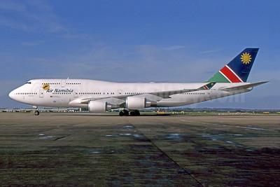 Air Namibia Boeing 747-48E V5-NMA (msn 28551) LHR (SPA). Image: 943785.