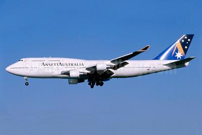 Ansett Australia Boeing 747-412 VH-ANB (msn 24064) SYD (Sam Chui). Image: 926274.