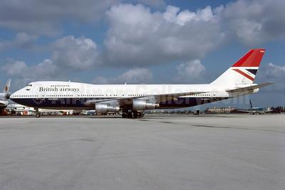 British Airways Boeing 747-136 G-AWNP (msn 20952) MIA (Bruce Drum). Image: 102983.