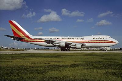 American International Airways (3rd) (Kalitta) Boeing 747-146 (F) N701CK (msn 19725) MIA (Bruce Drum). Image: 103205.