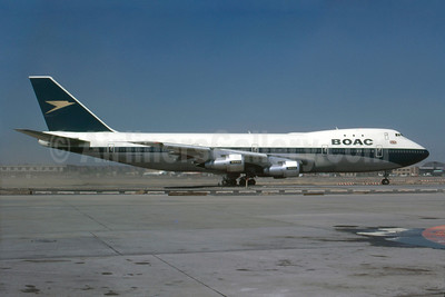 BOAC (British Overseas Airways Corporation) Boeing 747-136 G-AWNC (msn 19763) JFK (Bruce Drum). Image: 102915.