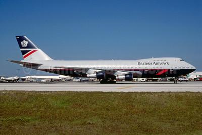 British Airways Boeing 747-136 G-AWNF (msn 19766) MIA (Keith Armes). Image: 912996.