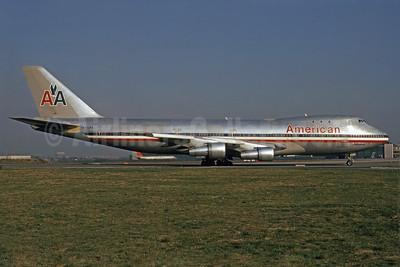 """American Airlines Boeing 747-121 N740PA (msn 19647) """"Astroliner"""" JFK (Astroliner) (Bruce Drum). Image: 101352."""