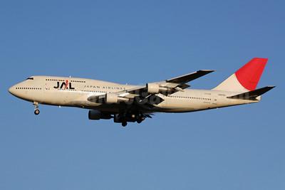 JAL-Japan Airlines Boeing 747-346 JA8183 (msn 23967) NRT (Michael B. Ing). Image: 901891.