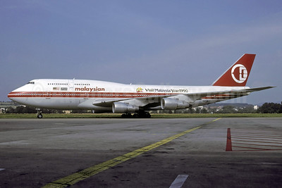 Malaysian Airline System (MAS) Boeing 747-3H6 9M-MHK (msn 23600) (Visit Malaysia Year 1990) ZRH (Rolf Wallner). Image: 922049.