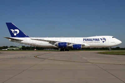 Panalpina (Atlas Air) Boeing 747-87UF N850GT (msn 37570) (Panalpina on 6 Continents) STN (Pedro Pics). Image: 908911.