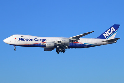 NCA-Nippon Cargo Airlines Boeing 747-8KZF JA12KZ (msn 36137) LAX (Michael B. Ing). Image: 922086.
