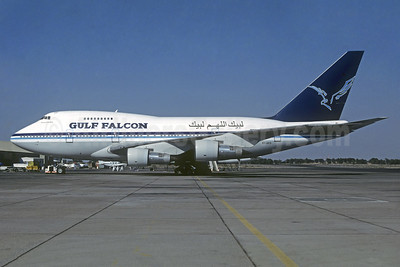 Gulf Falcon (Air Gulf Falcon) Boeing 747SP-09 5Y-GFD (msn 22298) SHJ (Christian Volpati Collection). Image: 932048.