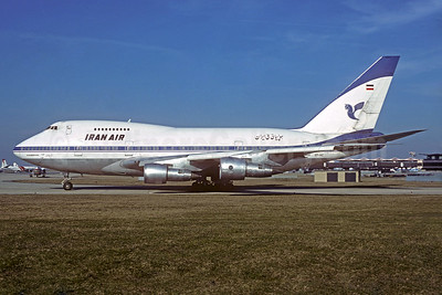 Iran Air Boeing 747SP-86 EP-IAC (msn 21093) ORY (Jacques Guillem). Image: 932077.