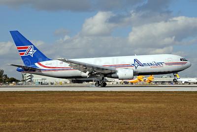 AmeriJet International Boeing 767-232 (F) N743AX (msn 22218) MIA (Bruce Drum). Image: 101969.