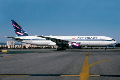 Aeroflot Russian Airlines Boeing 777-2Q8 ER VP-BAS (msn 27607) LAX (Roy Lock). Image: 912236.