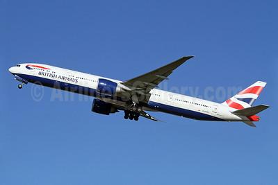 British Airways Boeing 777-336 ER G-STBA (msn 40542) LHR (Keith Burton). Image: 911189.
