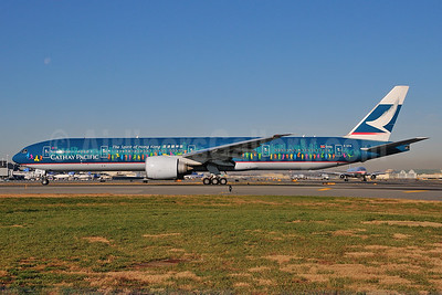 "Cathay's 2013 Boeing 777 version of ""The Spirit of Hong Kong"""