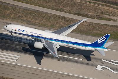 ANA (All Nippon Airways) Boeing 777-381 ER JA777A (msn 32650) (Inspiration of Japan) LAX (Wingnut). Image: 924014.