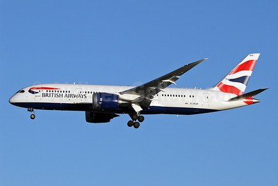 British Airways Boeing 787-8 Dreamliner G-ZBJD (msn 38619) LHR (Keith Burton). Image: 921881.