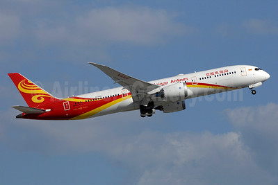 Hainan Airlines' first Boeing 787-9 Dreamliner, delivered on June 8, 2016