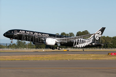The first Boeing 787-9 departs Paine Field on July 10, 2014 on its delivery flight