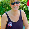 Albertine's daughter, Kathy, wearing a 9-11 memorial pin that she wears proudly each year on Memorial Day. A fitting tribute to those we lost on 9-11.