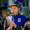 Clarinetist of Bogota High School Marching Band.