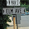 Corner where the parade turns from Main to Elm.