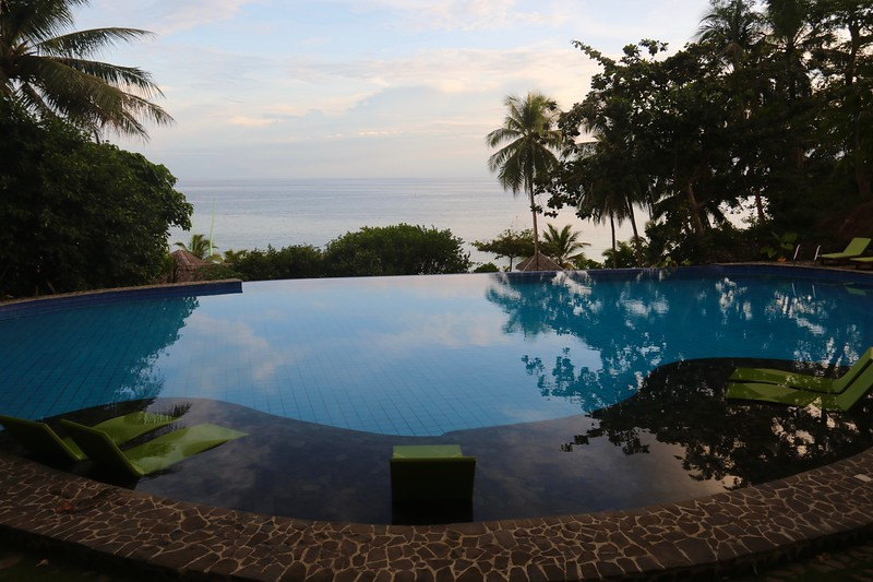 Amun Ini pool at sunset