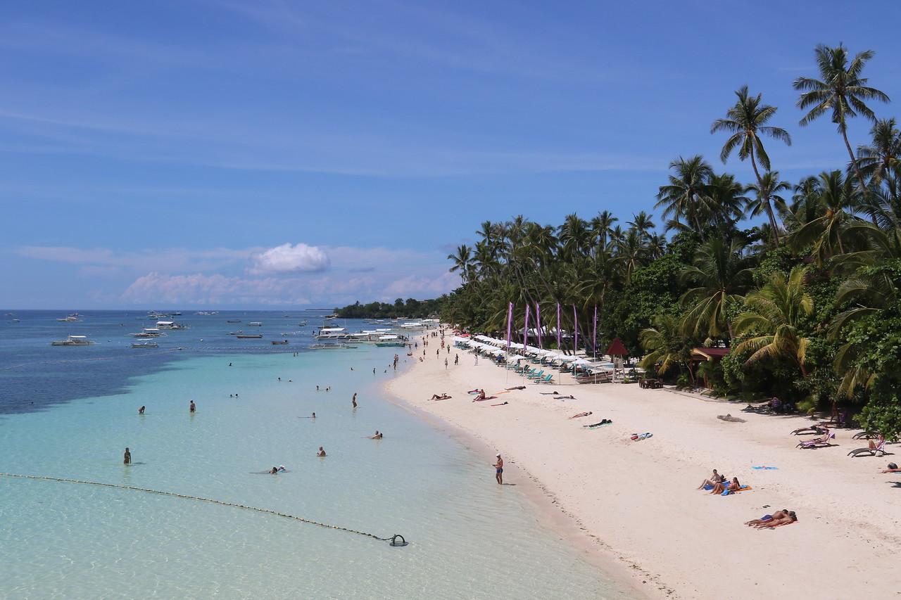 Alona beach, southern end of Bohol