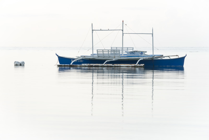 Dive Boat Moored at Anda on the Island of Bohol in the Philippines