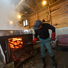 KRISTOPHER RADDER — BRATTLEBORO REFORMER<br /> Ross Thurber,  owner of Lilac Ridge Farm, in Brattleboro, Vt., boils sap to make maple syrup on March 5, 2020. Thurber said they have been boiling about 12 hours a day.