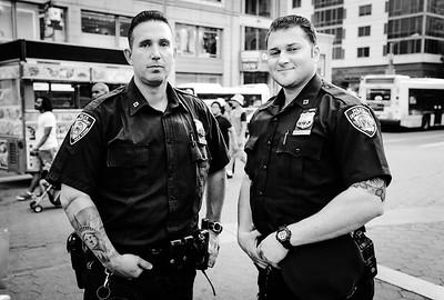 Police in Union Square
